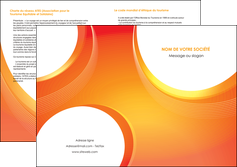 imprimerie depliant 2 volets  4 pages  web design orange fond orange colore MLIGBE75641