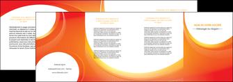 exemple depliant 4 volets  8 pages  web design orange fond orange colore MIF75643