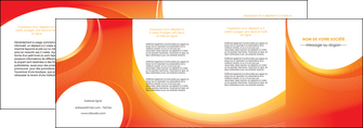 exemple depliant 4 volets  8 pages  web design orange fond orange colore MLIGBE75643