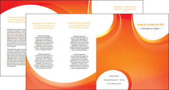 faire depliant 4 volets  8 pages  web design orange fond orange colore MIF75647