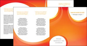 faire depliant 4 volets  8 pages  web design orange fond orange colore MLIGBE75647