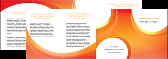 modele en ligne depliant 4 volets  8 pages  web design orange fond orange colore MLIGBE75649