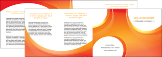 modele en ligne depliant 4 volets  8 pages  web design orange fond orange colore MIF75649