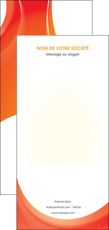 personnaliser maquette flyers web design orange fond orange colore MIF75651
