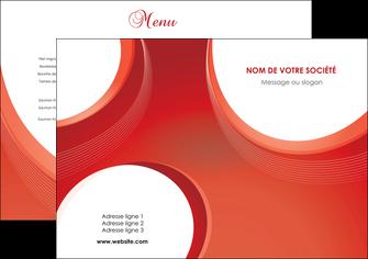 impression set de table web design rouge couleur colore MIF75653