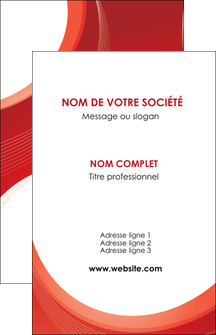 faire carte de visite web design rouge couleur colore MIF75663
