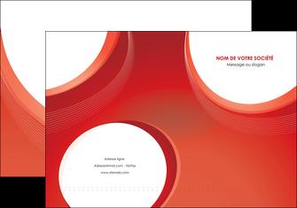 impression pochette a rabat web design rouge couleur colore MIF75665