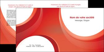 imprimerie depliant 2 volets  4 pages  web design rouge couleur colore MIF75683