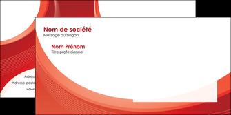 personnaliser modele de enveloppe web design rouge couleur colore MIF75691