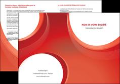 imprimer depliant 2 volets  4 pages  web design rouge couleur colore MIF75693