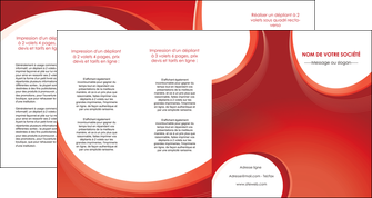 modele en ligne depliant 4 volets  8 pages  web design rouge couleur colore MIF75699