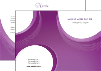 exemple set de table web design violet fond violet courbes MLIG75705