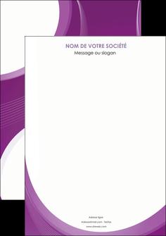 realiser affiche web design violet fond violet courbes MLIG75707