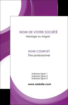 impression carte de visite web design violet fond violet courbes MLIG75715