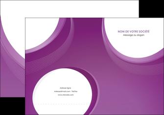realiser pochette a rabat web design violet fond violet courbes MLIG75719