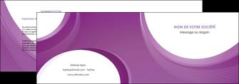 modele en ligne depliant 2 volets  4 pages  web design violet fond violet courbes MLIG75721