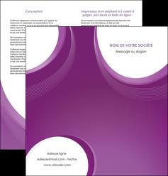 modele en ligne depliant 2 volets  4 pages  web design violet fond violet courbes MLIG75733
