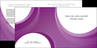 realiser depliant 2 volets  4 pages  web design violet fond violet courbes MLIG75735