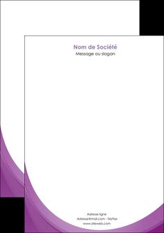 personnaliser maquette tete de lettre web design violet fond violet courbes MLIG75737