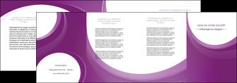 modele en ligne depliant 4 volets  8 pages  web design violet fond violet courbes MLIG75747