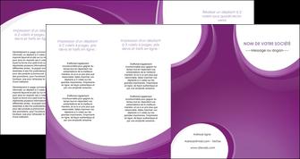 cree depliant 4 volets  8 pages  web design violet fond violet courbes MLIG75751