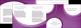 faire modele a imprimer depliant 4 volets  8 pages  web design violet fond violet courbes MLIG75753