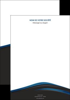modele affiche web design fond noir bleu abstrait MLGI75979