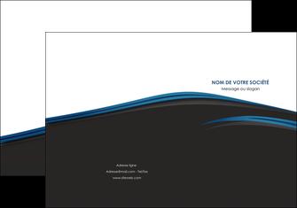 exemple pochette a rabat web design fond noir bleu abstrait MLGI75989
