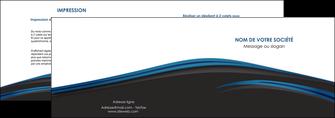 imprimer depliant 2 volets  4 pages  web design fond noir bleu abstrait MLGI75991
