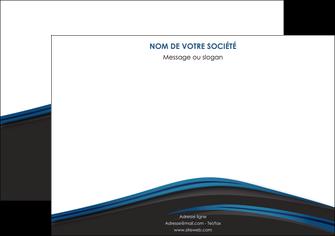 imprimer affiche web design fond noir bleu abstrait MLGI75995