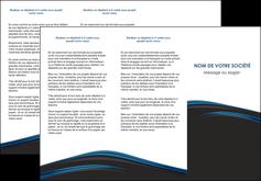 maquette en ligne a personnaliser depliant 3 volets  6 pages  web design fond noir bleu abstrait MLGI76001