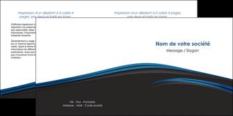 imprimer depliant 2 volets  4 pages  web design fond noir bleu abstrait MLGI76005