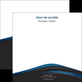 maquette en ligne a personnaliser flyers web design fond noir bleu abstrait MLGI76009