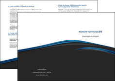 faire modele a imprimer depliant 2 volets  4 pages  web design fond noir bleu abstrait MLGI76015