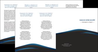 creer modele en ligne depliant 4 volets  8 pages  web design fond noir bleu abstrait MLGI76021