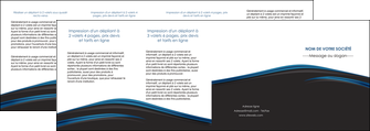 creation graphique en ligne depliant 4 volets  8 pages  web design fond noir bleu abstrait MIF76023