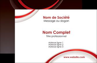 impression carte de visite web design rouge gris contexture MLGI76691