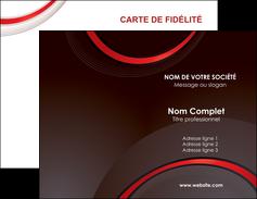creation graphique en ligne carte de visite web design rouge gris contexture MLGI76701