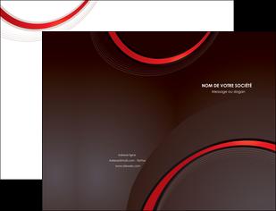 impression pochette a rabat web design rouge gris contexture MLGI76703