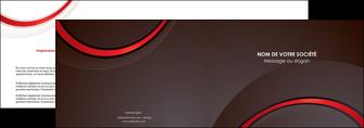 modele depliant 2 volets  4 pages  web design rouge gris contexture MLGI76709