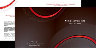 imprimerie depliant 2 volets  4 pages  web design rouge gris contexture MLGI76721