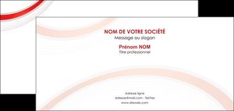 cree carte de correspondance web design rouge gris contexture MLGI76729