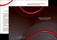 creation graphique en ligne depliant 2 volets  4 pages  web design rouge gris contexture MLGI76731