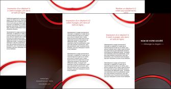 personnaliser modele de depliant 4 volets  8 pages  web design rouge gris contexture MLGI76739