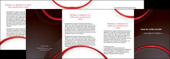 impression depliant 4 volets  8 pages  web design rouge gris contexture MLGI76741