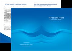 creer modele en ligne depliant 2 volets  4 pages  web design bleu fond bleu bleu pastel MIF77023