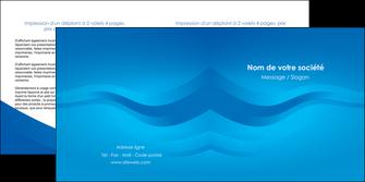 faire modele a imprimer depliant 2 volets  4 pages  web design bleu fond bleu bleu pastel MIF77033