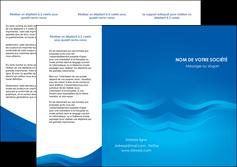 maquette en ligne a personnaliser depliant 3 volets  6 pages  web design bleu fond bleu bleu pastel MIF77037