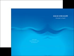 maquette en ligne a personnaliser pochette a rabat web design bleu fond bleu bleu pastel MIF77049