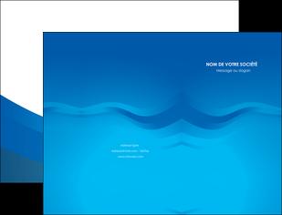 creation graphique en ligne pochette a rabat web design bleu fond bleu bleu pastel MIF77051